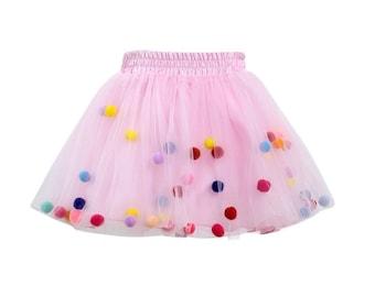 d3c884b22 Pink pom pom tutu, pom poms, pom pom tutu, tulle skirt, pom pom skirt, pom-pom  tutu.