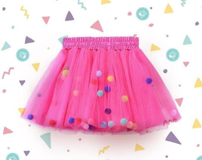 Hot Pink Pom Pom Tutu