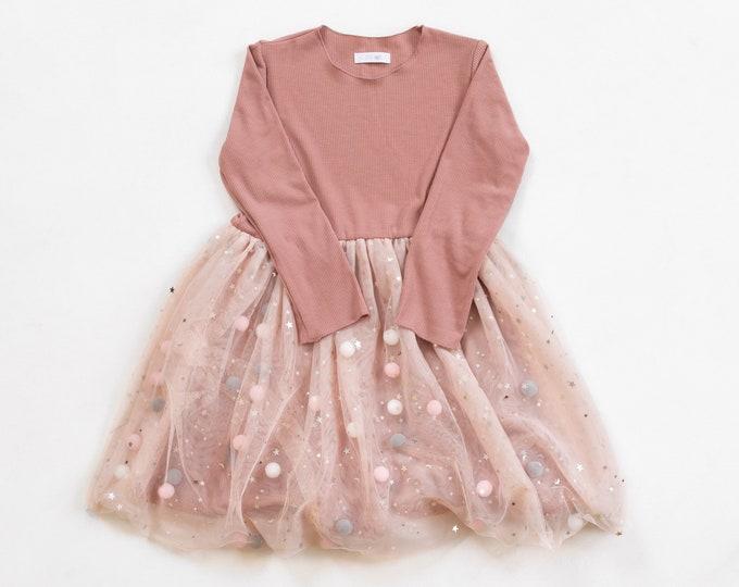 Pink Pom Pom Dress