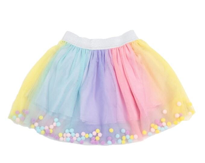 Rainbow Pom Pom tutu,  Pom Pom tutu, unicorn tutu, Pom Pom