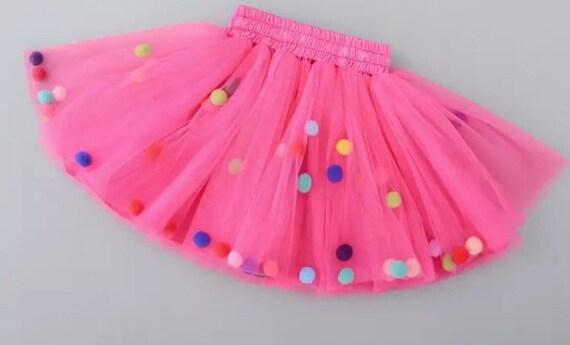27be32fadf Fuscia pink tutu, hot pink tutu, pink pom pom tutu, pom pom tutu