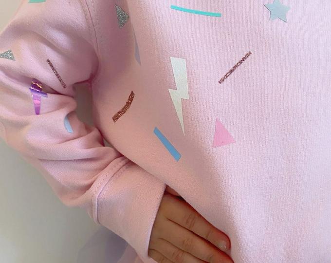 Candy Pink funfetti sweatshirt