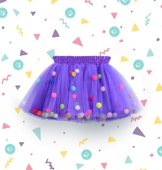Violet Pom Pom tutu