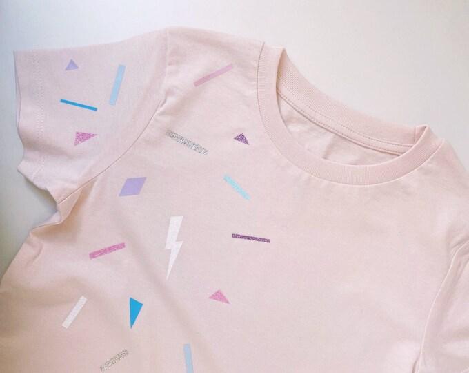 Funfetti T-shirt, girls T-shirt, pink T-shirt, confetti T-shirt, sparkle T-shirt