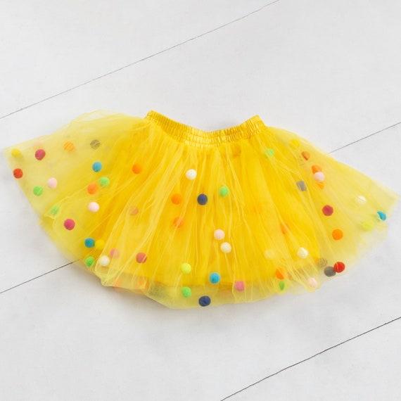 Yellow Pom Pom Tutu