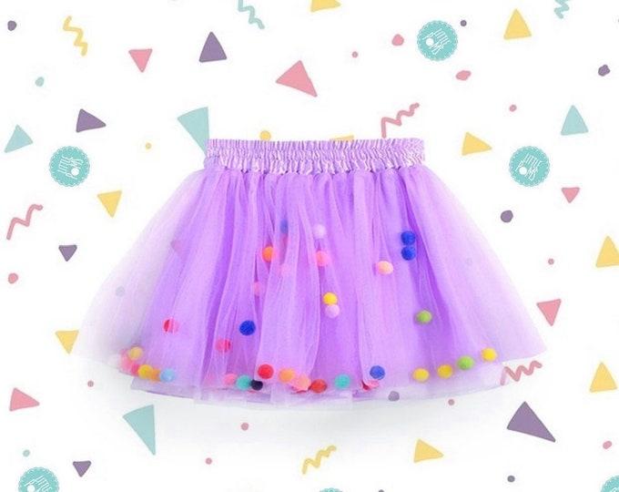 Lilac tutu, lilac Pom Pom tutu, purple tutu, Pom Pom skirt
