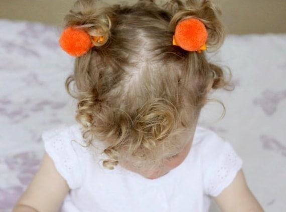 pom pom clips, bear ear clips, hair clips, hair clip, pompom, pompom clip, hair grip, pompom hair grip