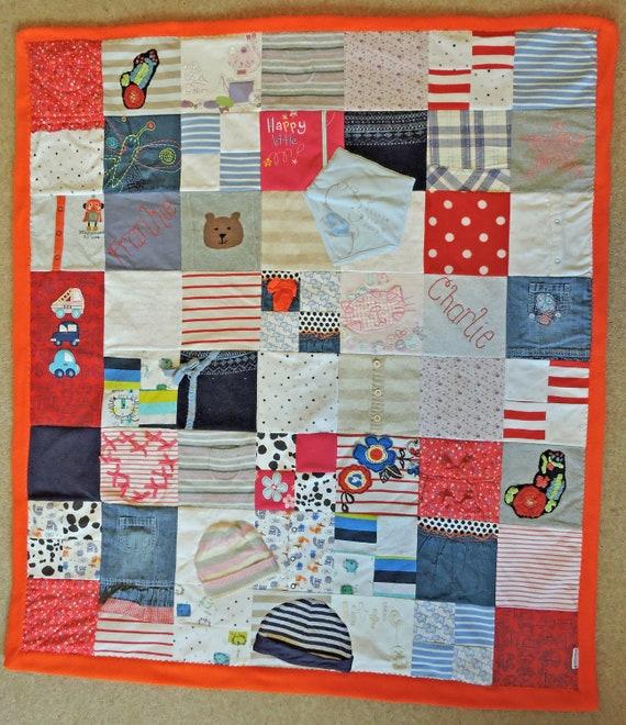 Memory Keepsake Blanket Made From Clothing