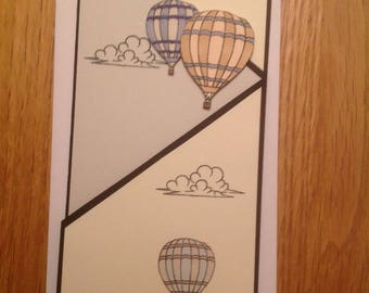 Hand crafted Just for you Balloon card