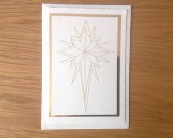 Handgemaakte kerstkaart ster