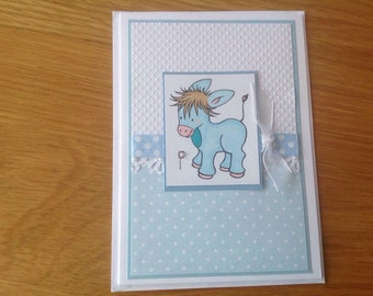 Hand crafted Childs birthday card