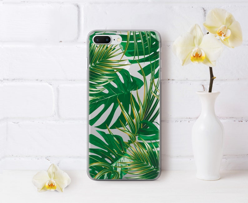 premium selection f751a 1c2b3 Monster Leaf iPhone X Case Palm iPhone 8 Plus Case Google Pixel 2 Case For  Samsung S7 Case For Samsung Note 5 Case Google Pixel XL AND1016