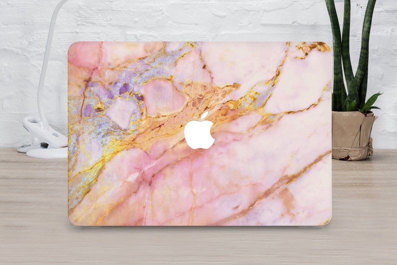 Rose Gold Marble Stone Hard Cover Case For Macbook Pro Retina Air 11 12 13 15