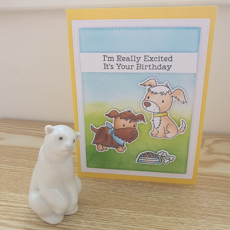 A dogs birthday card