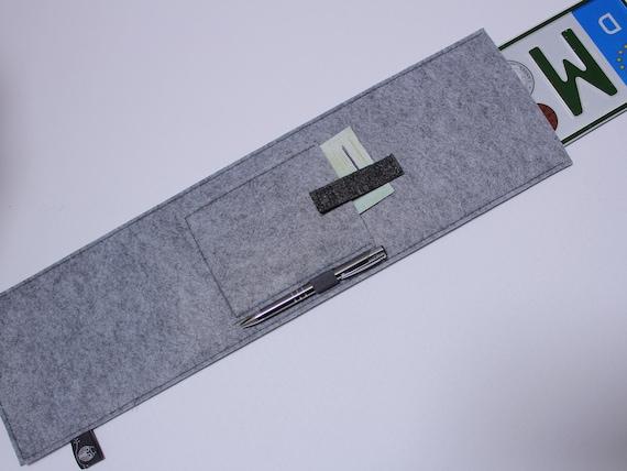 nummernschild kfz kennzeichentasche kennzeichen etsy. Black Bedroom Furniture Sets. Home Design Ideas