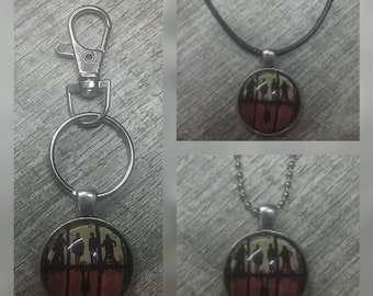 Stranger things key chain or necklace,  option to personalize free