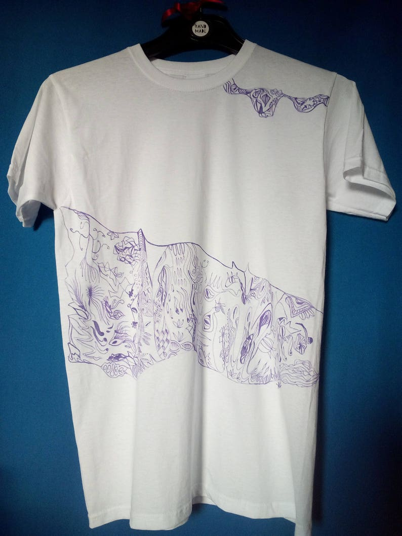 Hand Decorated T Shirt Etsy