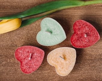 4 Floating candle Hearts Wedding candle Wedding favor gift Wedding decoration Wedding Centerpiece Scented candles