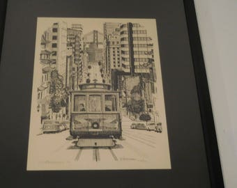 Original Lithograph by C Humphrey signed and numbered - San Francisco 165500