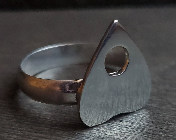 Large Planchette Sterling Silver Ring | Size 10.25