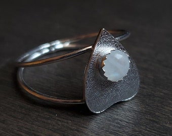 Moonstone Planchette Ring | Size 10 | Sterling Silver