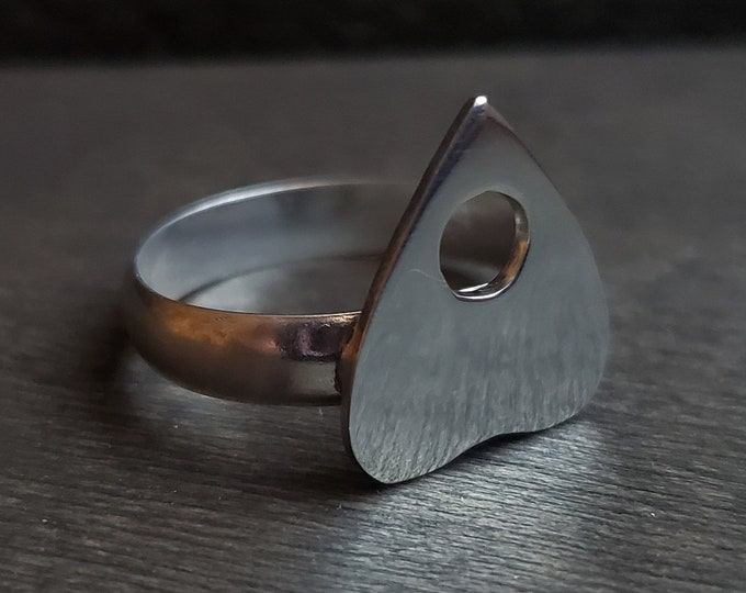 MADE TO ORDER - Large Planchette Sterling Silver Ring
