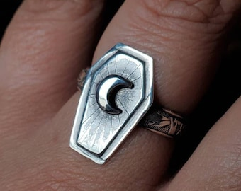 MADE TO ORDER - Coffin & Moon Sterling Silver Ring