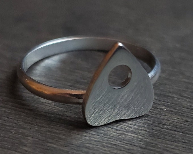MADE TO ORDER - Small Planchette Sterling Silver Ring