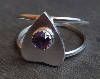Amethyst Planchette Ring | Size 9.5 | Sterling Silver