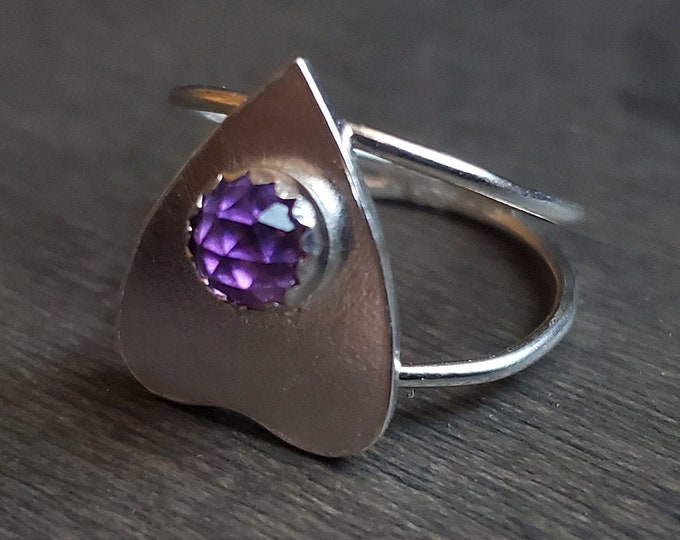 Amethyst Planchette Ring | Size 4.5 | Sterling Silver