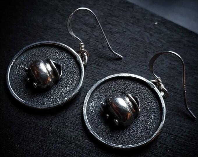 Cauldron Earrings | Sterling Silver