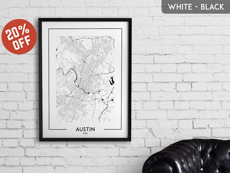 photograph regarding Printable Map of Austin referred to as AUSTIN map print, poster, map of Austin, Austin printable, highway map artwork, Austin map poster, town map wall artwork, generate poster, Texas, United states