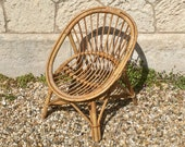 Old French rattan child rattan chair