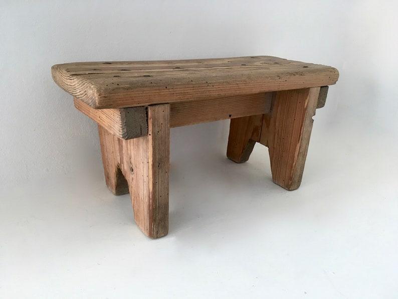 Groovy Stool Bottom Wooden Foot Rest French Vintage Wooden Stool Footstool Short Links Chair Design For Home Short Linksinfo