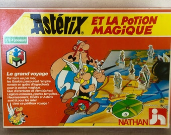 game Asterix and the magic potion Goscinny Uderzo Nathan Asterix board game french vintage game