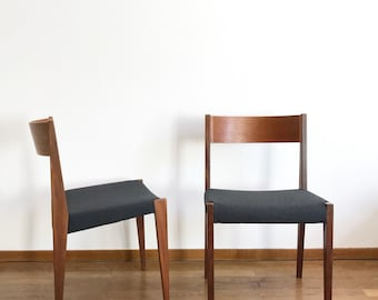 Set Of Four Pia Chairs By Poul Cadovius, 1960s, Walnut Plywood, Mid Century Modern  Danish Design