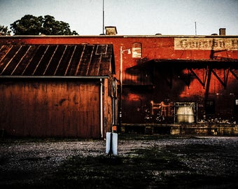 """Antique Building With A Slight Rustic Grain Added To Photo Entitled """"Rusted roots"""" Wall Decor, Photograph"""