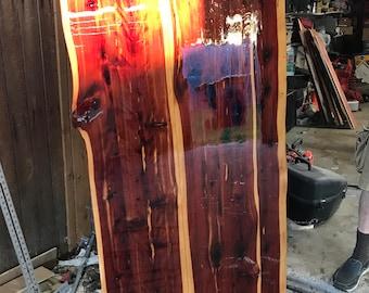 Red Cedar Live Edge Wood Table Top