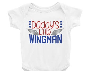 Boys Air Force Shirt - Air Force Baby Outfit - Air Force Kid - Air Force Son - Military Baby - Military Son - Daddy's Little Wingman Shirt