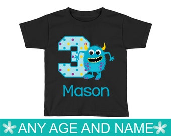 Items Similar To Express Birthday Shirt Monster Number 4 Gr 110 On Etsy