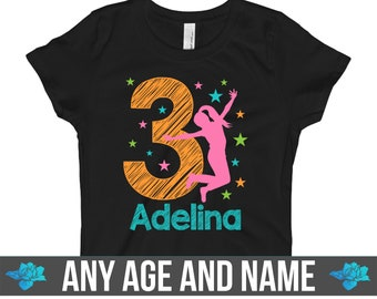 a62fc9e9 Trampoline Birthday Shirt / Trampoline Birthday Party / Jump Birthday Party  1 2 3 4 5 6 7 8 9 10 Girls Personalized Birthday Shirt