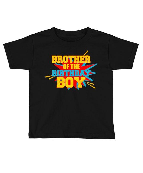 Superhero Brother Of The Birthday Boy Shirt Family
