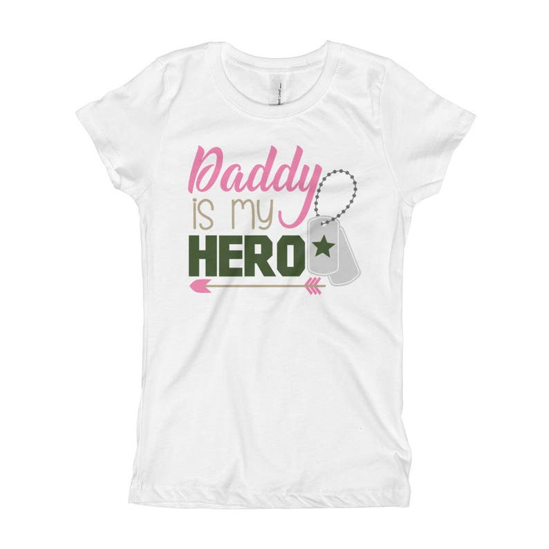 c440ddb5 My Daddy is My Hero Girls Army Shirt Girls Army Baby | Etsy