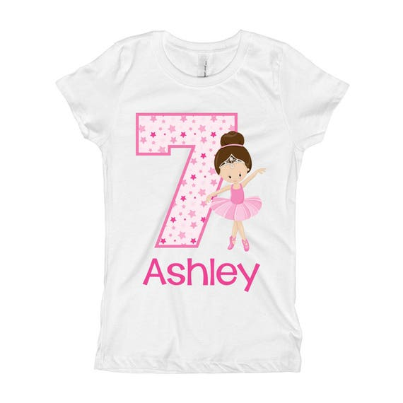 Ballerina Birthday Shirt Ballet 7th