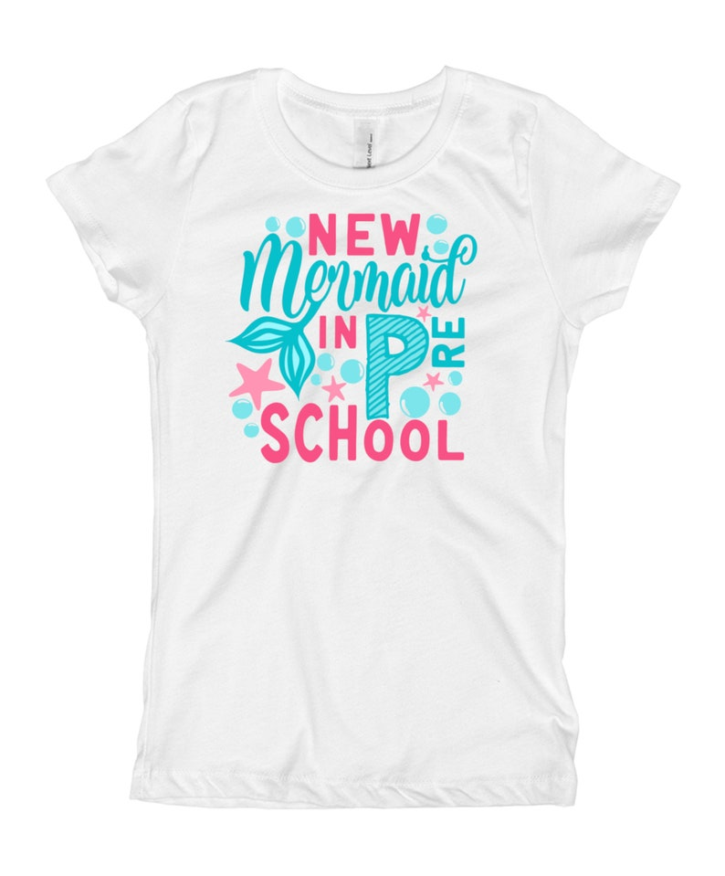 Pre School Shirt New Mermaid in Preschool shirt Kids First Day of School Shirt Personalized Girls Back to School Shirt