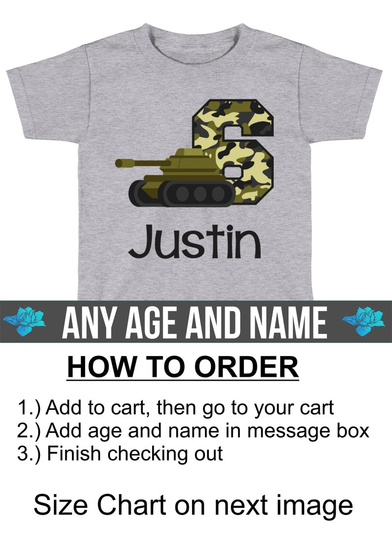 Army Tank Birthday Shirt   Army Birthday Party Supplies Decorations   Military Birthday Shirt   Military Birthday Party   Boys Camo by Etsy