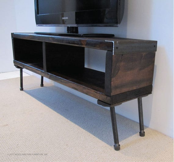 Tv Stand Media Console Tv Console Reclaimed Wood Tv Stand Etsy