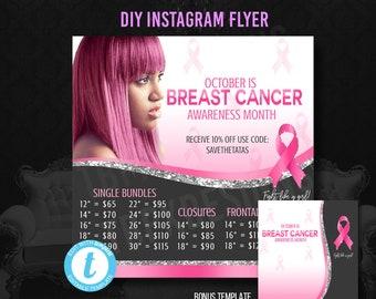 size 40 ebdaa e6283 Breast cancer flyer   Etsy