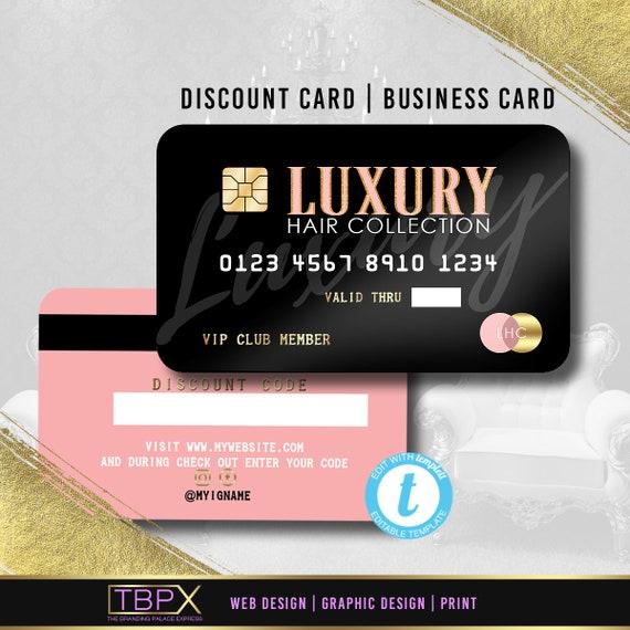 Kreditkarte Styled Rabattkarte 1 Visitenkarte