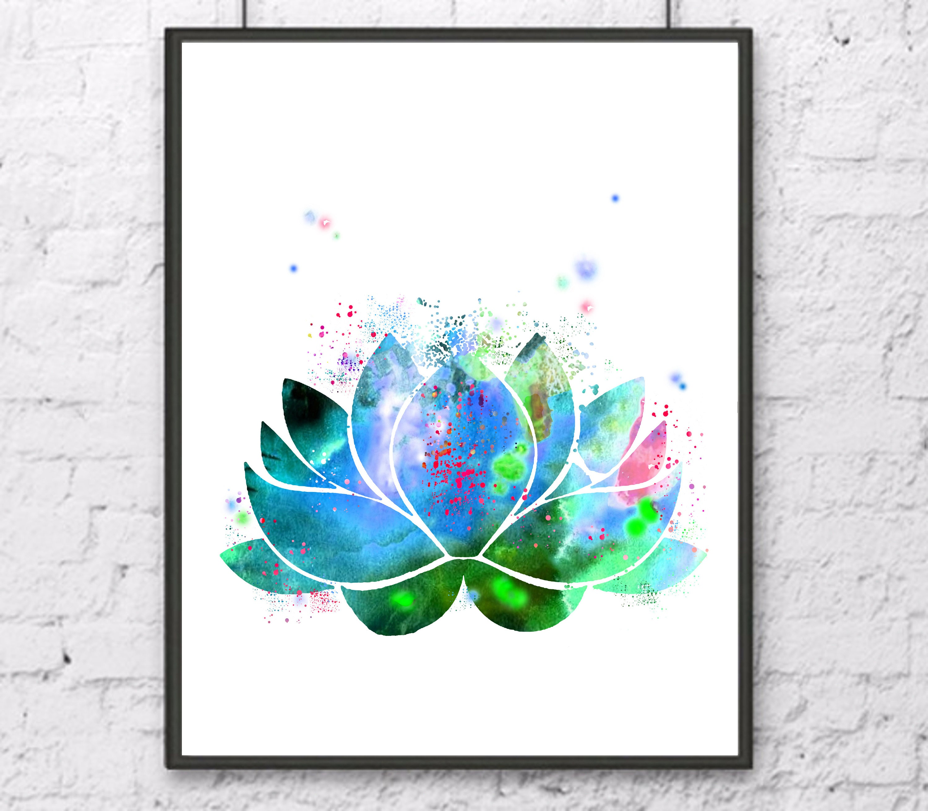 Lotus Watercolor Lotus Flower Print Lotus Art Lotus Print Etsy